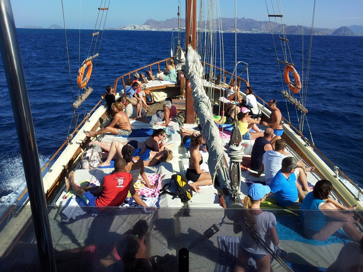 Beach sailing in Kos