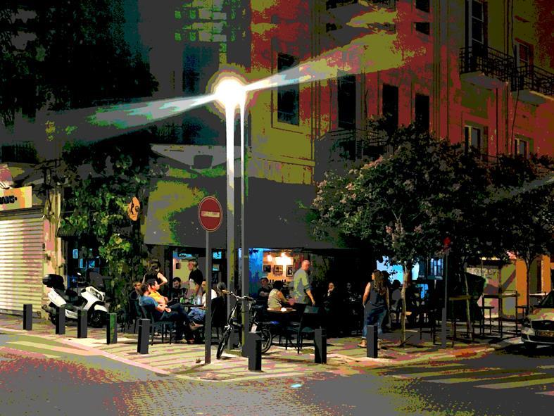 רחוב יפו פינת הבנקים, מהתערוכה