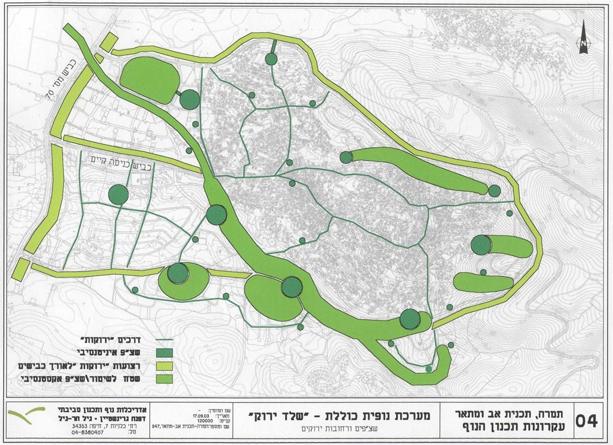 טמרה, תכנית מתאר שלד ירוק